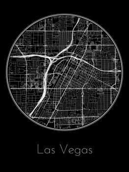 Kart over Las Vegas