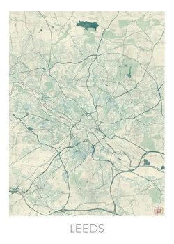 Kart over Leeds