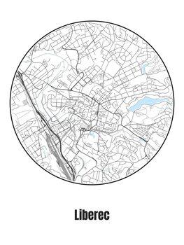 Kart over Liberec