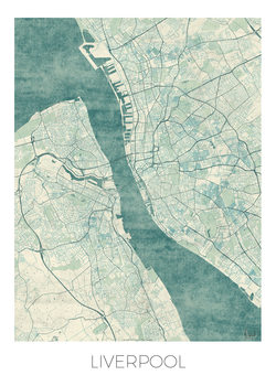 Kart over Liverpool
