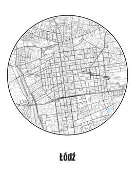 Kart over Łódź
