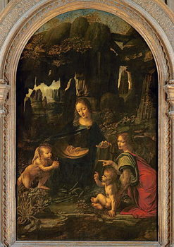 Madonna of the Rocks, c.1478 Kunsttrykk