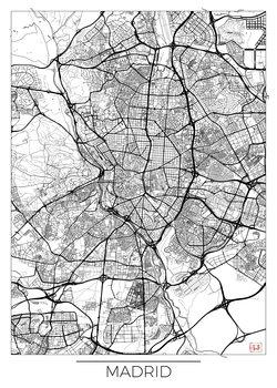 Kart over Madrid