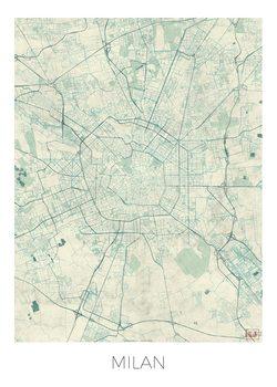 Kart over Milan