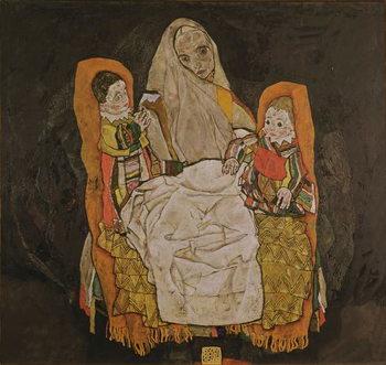 Mother with Two Children, 1915-17 Kunsttrykk