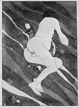 Naked man Kunsttrykk