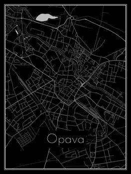 Kart over Opava
