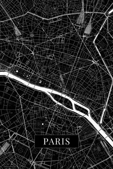 Kart over Paris black