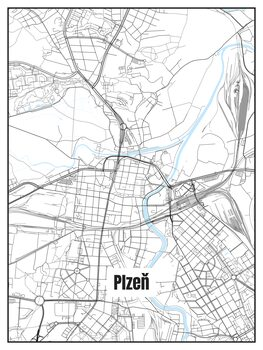 Kart over Plzeň