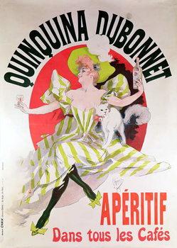 Poster advertising 'Quinquina Dubonnet' aperitif, 1895 Kunsttrykk