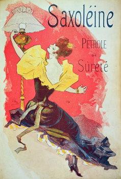 Poster advertising 'Saxoleine', safety lamp oil Kunsttrykk
