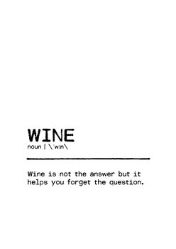 Illustrasjon Quote Wine Question