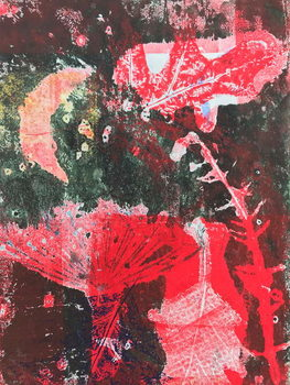 Red moon Kunsttrykk