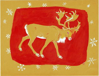 Reindeer, 1960s Kunsttrykk