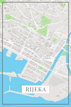 Kart over Rijeka color