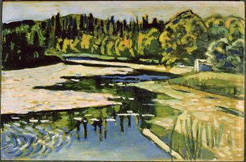 River in Autumn, 1900 Kunsttrykk