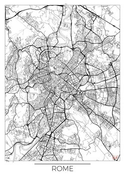Kart over Rome