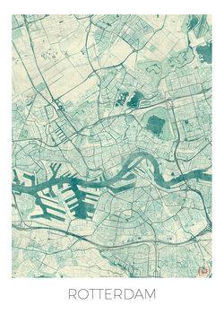 Kart over Rotterdam