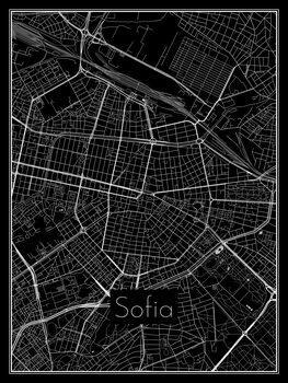 Kart over Sofia