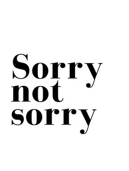 Illustrasjon sorry not sorry