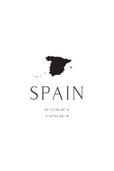Illustrasjon Spain map and coordinates