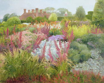 Spires of Kniphofia and Great Dixter Kunsttrykk