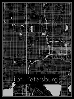 Kart over St. Petersburg