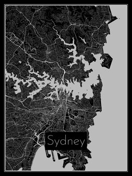 Kart over Sydney