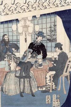 The salon of a house of foreign merchants at Yokohama, 1861 Kunsttrykk