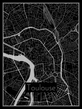 Kart over Toulouse