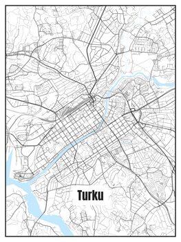 Kart over Turku