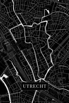 Kart over Utrecht black