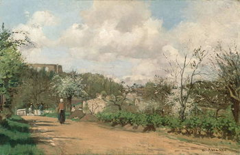 View from Louveciennes, 1869-70 Kunsttrykk