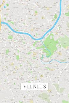 Kart over Vilnius color