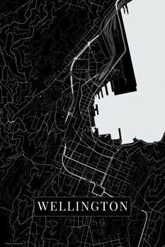 Kart over Wellington black