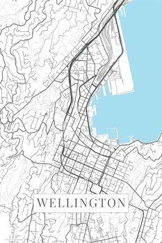 Kart over Wellington white