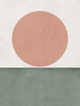 Illustrasjon abstractorangesungreen1
