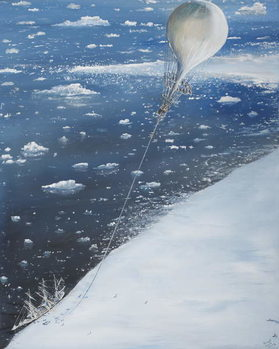Antarctica's first Aeronaut Captain Scott 4th February 1902, 2005 Kunsttrykk