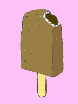 Choc lolly,2007 (oil sticks and ink on paper Kunsttrykk
