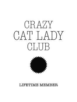 Illustrasjon Crazy catlady