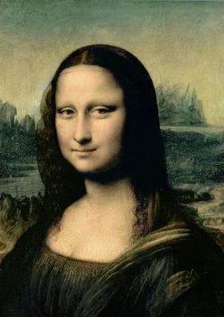 Detail of the Mona Lisa, c.1503-6 Kunsttrykk