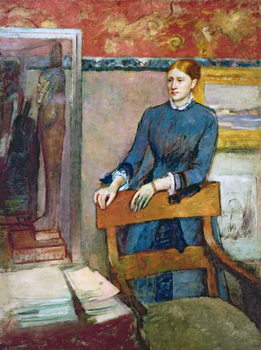 Helene Rouart in her Father's Study, c.1886 Kunsttrykk