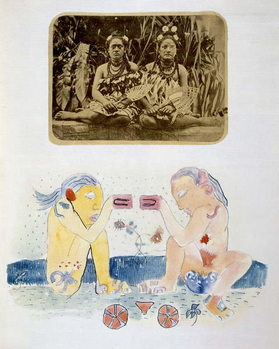 Illustrations from 'Noa Noa, Voyage a Tahiti', published 1926 Kunsttrykk