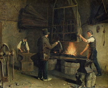 Interior of the Forge, 1837 Kunsttrykk