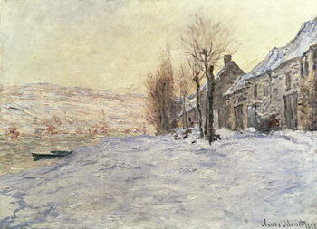 Lavacourt under Snow, c.1878-81 Kunsttrykk