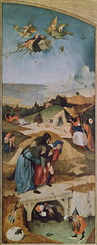Left wing of the Triptych of the Temptation of St. Anthony (oil on panel) Kunsttrykk