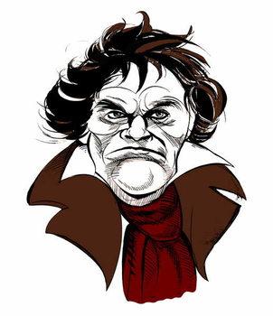 Ludwig van Beethoven, German composer, 17 December  1770- 26 March 1827 Kunsttrykk