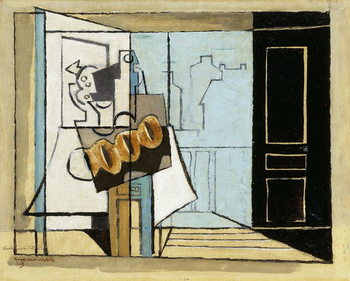 Monday, the Open Window; Lundi, la Fenetre Ouverte, 1929 Kunsttrykk