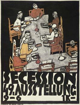 Poster for the Vienna Secession, 49th Exhibition, Die Freunde, 1918 Kunsttrykk