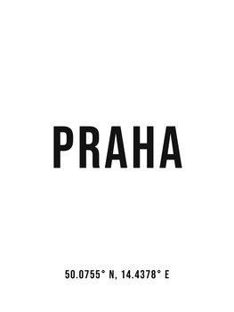 Illustrasjon Praha simple coordinates